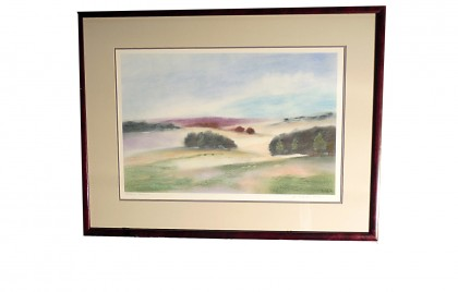 Framed and Signed Pastel Northern Meadows 2