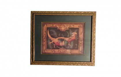 Craftsman Pheasants 48 by 40 Framed Art Print by Abigail Kamelhair