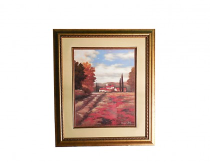 Art Print by Kanayo Ede El Pastoral I in Gold Frame- view 1
