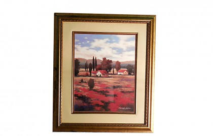El Pastoral II  Art Print by Kanayo Ede in Gold Frame