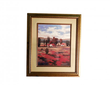 El Pastoral II  Art Print by Kanayo Ede in Gold Frame- view 1