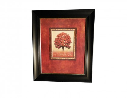 J Wiens Red Tree Art Print in Thick Black Frame- view 1