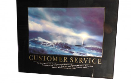 Framed Inspirational Poster Customer Service