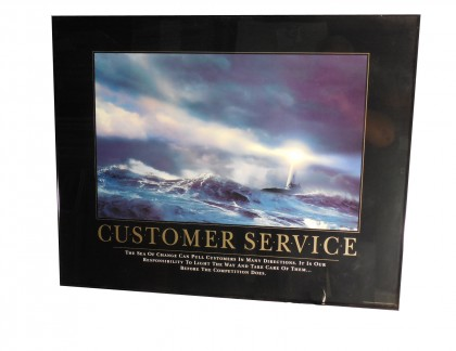 Framed Inspirational Poster Customer Service- view 1