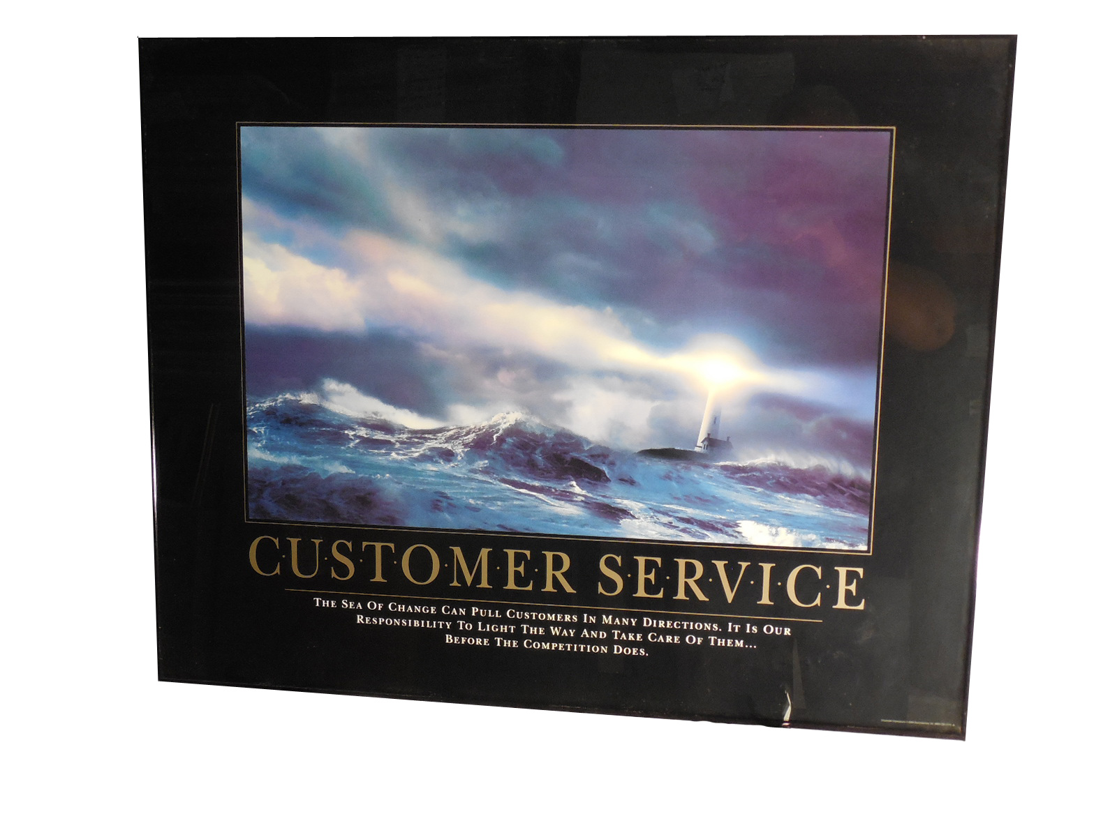 Framed Inspirational Customer Service