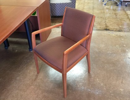 Bernhardt Side Chairs Cherry Wood Frame- view 1
