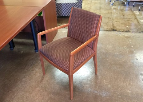 Bernhardt Side Chairs Cherry Wood Frame