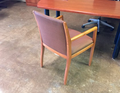 Bernhardt Side Chairs Cherry Wood Frame- view 2