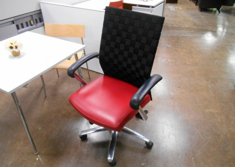 Davis Conference Chairs Red Leather