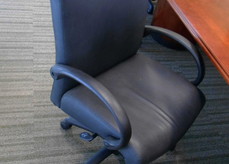 Highmark Conference Chairs Black Leather
