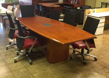 OFS 8 Foot boat shaped table with power
