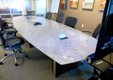 Stone Conference Table 14'x42′ 58″